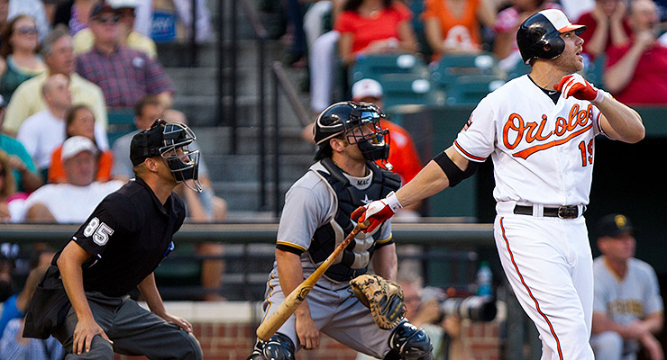 Chris Davis knows the success one can have when you hit the ball in the air (via Keith Allison).