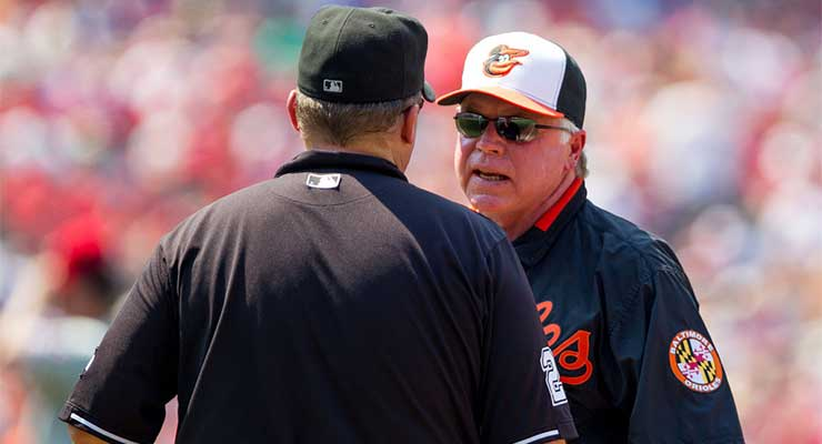 Buck Showalter and his ilk will need to decide when to challenge and when to just yell (via Keith Allison).