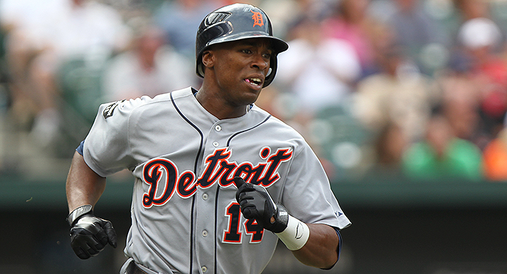 Austin Jackson is one of the faster holdover players on the Tigers (via Keith Allison).