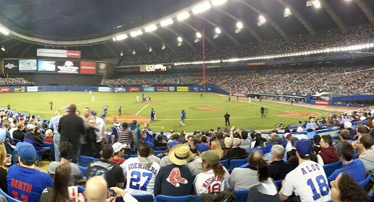 Last weekend, Olympic Stadium was once again filled with baseball fans (via David Shemie).