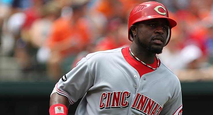 Fewer African-Americans born in the '80s, like Brandon Phillips, reached the majors (via Keith Allison).