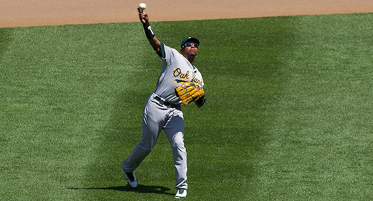 Just how good was that throw from Yoenis Cespedes? (via Keith Allison)