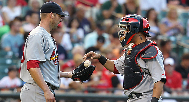 Who was more influential on the basepaths, Chris Carpenter or Yadier Molina? (via Keith Allison)