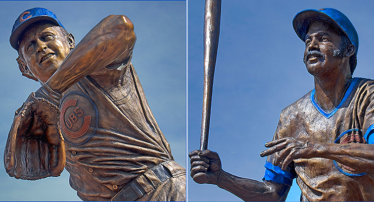 Not even the iconic Ron Santo and Billy Williams could win the Cubs a World Series (pics via Ron Cogswell).