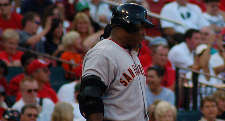 Barry Bonds' body armor was so prevalent in 2002 that it earned its own team name (via Dave Herholz).