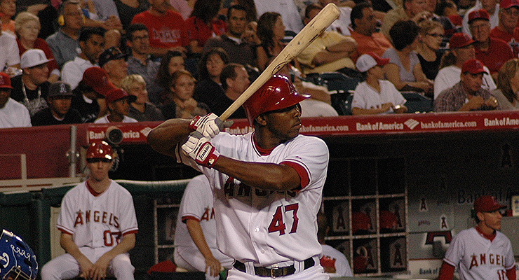Howie Kendrick and the 2008 Angels had a very consistent offense (via Tracie Hall).