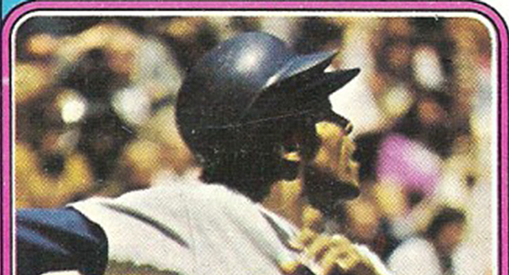 Willie Davis' 1974 Topps card is a rarity for one simple reason -- he isn't smiling.
