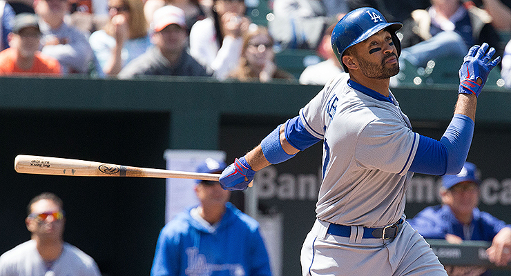 Compensating for injury changed Matt Kemp's swing for the worse (via Keith Allison).