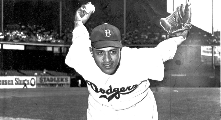 Don Newcombe once threw five innings on zero days of rest. (Courtesy of the Los Angeles Dodgers)