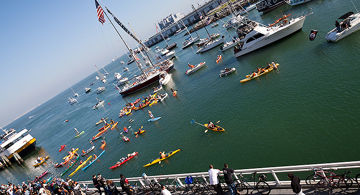 A lot of forces have to be aligned for a ball to land in McCovey Cove. (via randychiu)