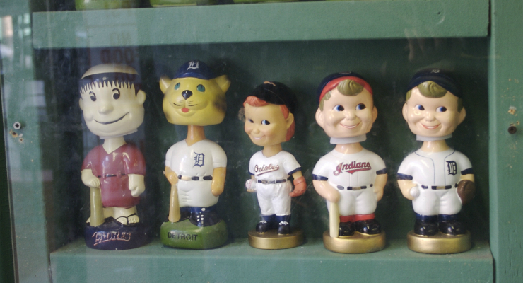 Bobbleheads are mostly associated with sports, but they could be useful elsewhere.  (via Ewen Roberts)