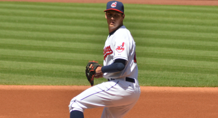 "Trevor Bauer was one of the most ""in the band"" pitchers in 2013-14. (via Erik Daniel Drost)"
