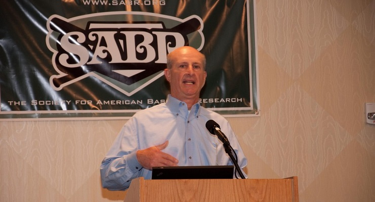 SABR President Vince Gennaro created the Diamond Dollars Baseball Analytics Case Competition. (via The SABR Office)