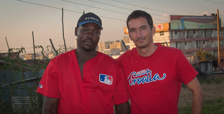 George and the author in Kampala, December 2014.
