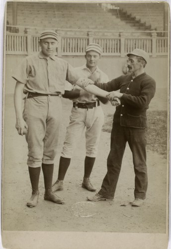 Dan Casey, Charlie Bastian and trainer