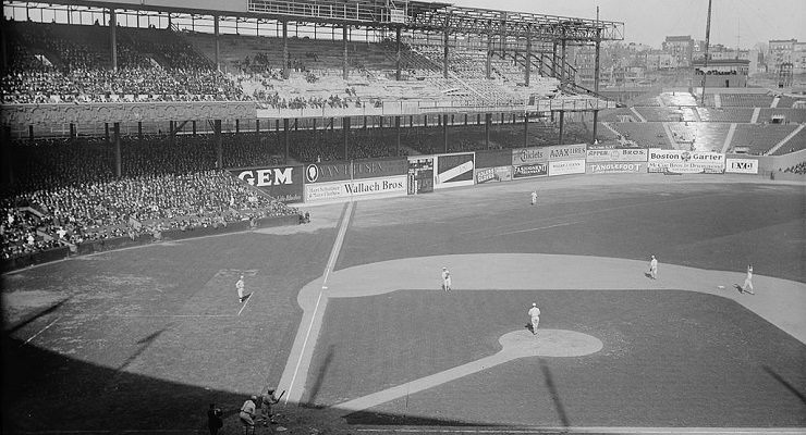 The Polo Grounds factored into many Subway Series games. (via Library of Congress)