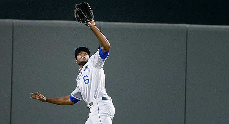 Lorenzo Cain and the KC outfield are projected to be the best in the game defensively. (via Keith Allison)
