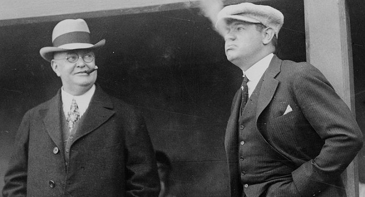 Ban Johnson, left, was instrumental in helping to form the American League. (via Library of Congress)