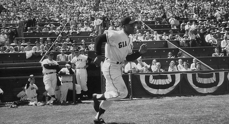 Willie Mays just turned 84, and could probably still hop on one foot for grins. (via John Brenneis, Getty Images)