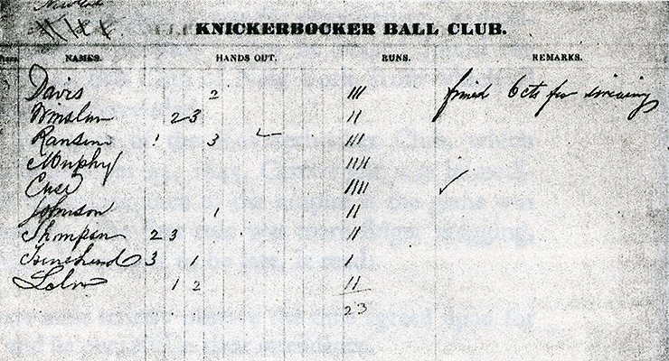 This is one of the first versions of a box score. (via New York Public Library)