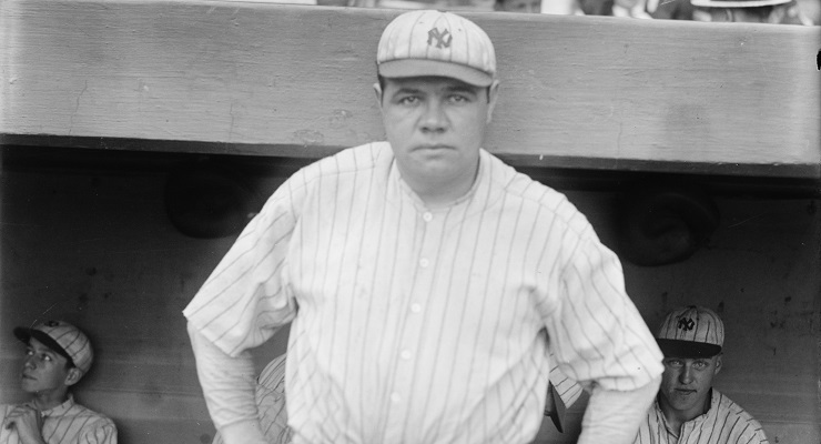 Babe Ruth was on countless items of memorabilia and products. (via Library of Congress)