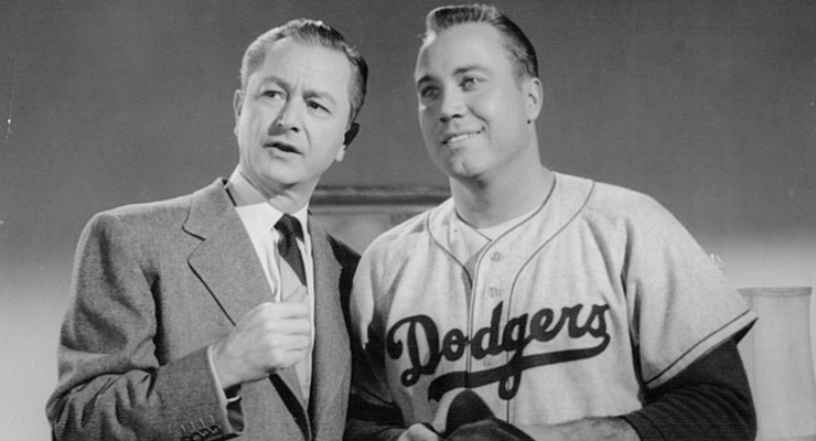 Duke Snider, right, never recorded 200 hits in a season, but got 199 twice. (via Screen Gems)