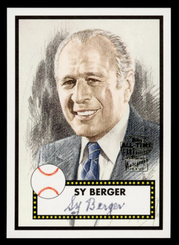 2015 Shrine of the Eternals inductee Sy Berger was the inventor of the modern baseball card. (via The Baseball Reliquary)