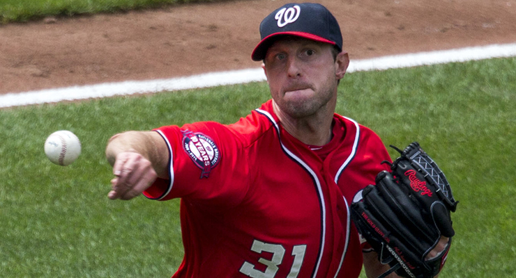 Max Scherzer's 2.26 kwERA ranked third during 2015, among qualified pitchers. (via Keith Allison)