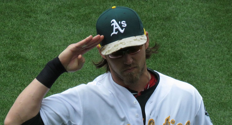 Josh Reddick and the A's hit well in high-leverage situations, but they still underperformed. (via NickB149)