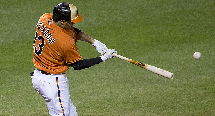 The crack of the bat is one of sports' most beautiful sounds. (via Keith Allison)