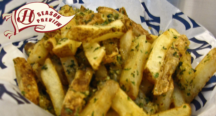 The garlic fries at Yankee Stadium are a can't-miss food item.  (via Dov Harrington & Howell Media Solutions)