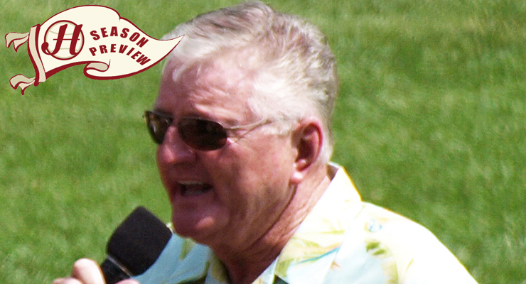 """This is likely Ken """"Hawk"""" Harrelson's final season calling White Sox games. (via billymax85 & Howell Media Solutions)"""