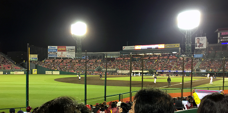 Kobo Stadium in Sendai. (via Daniel Brim)