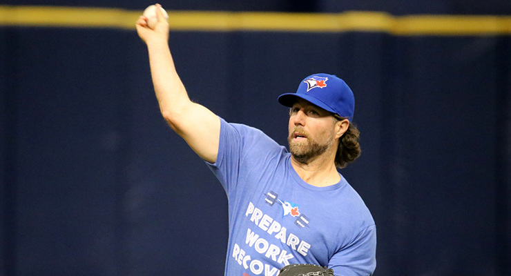 R.A. Dickey is among the leaders in ground ball BABIP, thanks to his knuckleball. (via Arturo Pardavila III)