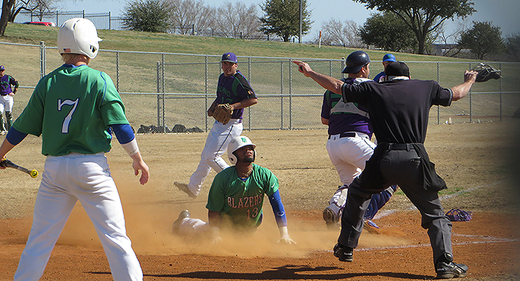 North Lake's Jose Blanco scores against the Richland ThunderDucks. (via Brian Reinhart & North Lake College)
