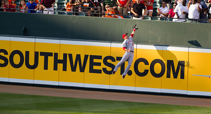 Robbing home runs is not foreign to Mike Trout. (via Keith Allison)