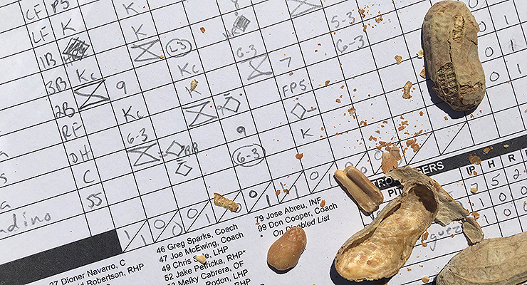 Filling out a scorecard can seem anachronistic these days. (via Scott Ferkovich)