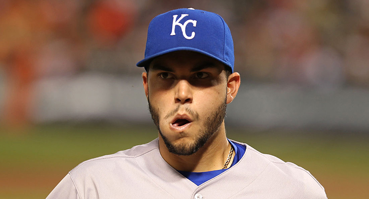 The deck has been stacked against the defensively-challenged Eric Hosmer. (via Keith Allison)