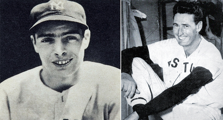 Two of a generation's greatest hitters were also military veterans. (via Heritage Auctions and Baseball Digest)