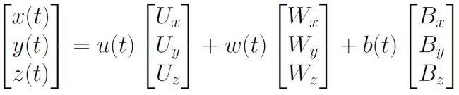 xyz to uwb vectors