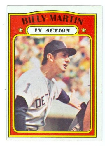 1972 Action--Billy Martin