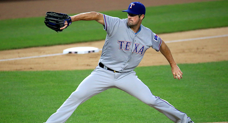 Cole Hamels was a big reason the Rangers surged during the second half of 2015. (via Arturo Pardavila III)