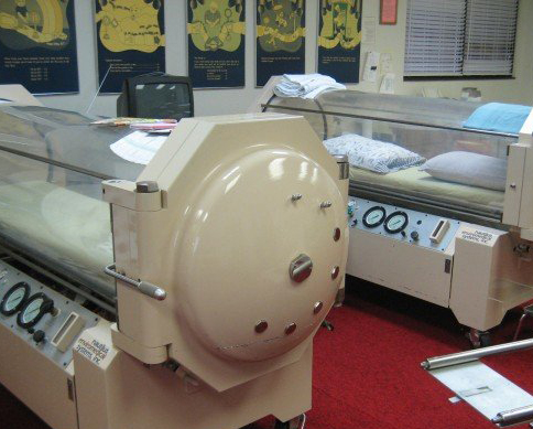 Hyperbaric chambers. (via KUMOnews)