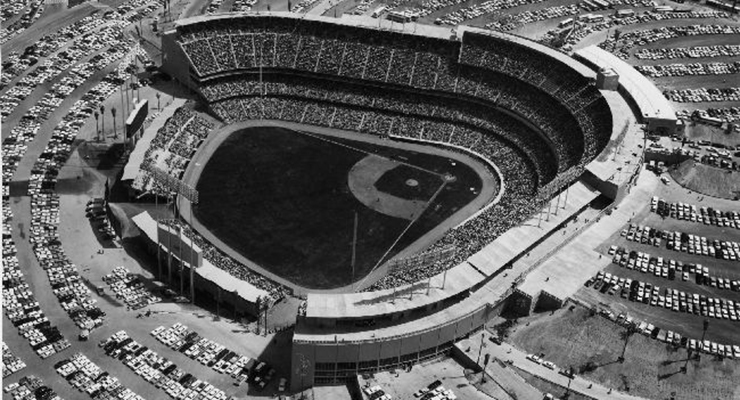 Dodger Stadium was the Los Angeles Angels' home from 1962-65. (via SDASM Archives)