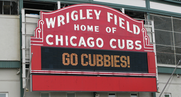 For the second straight season, there will be postseason baseball played at Wrigley Field. (via Ron Pongsajapan)