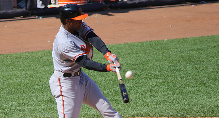 Jonathan Schoop had the second-hardest hit ball in baseball this season. (via Arturo Pardavila III)