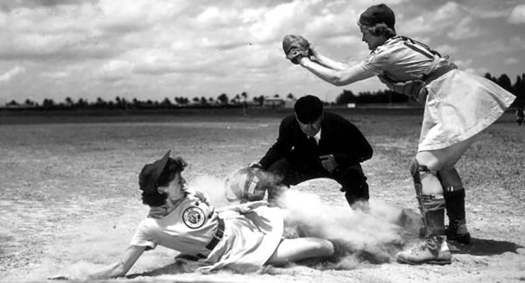There's more to women in baseball than the Girls Professional Baseball League. (via Florida Memory)