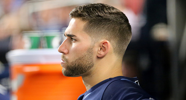 Kevin Kiermaier is one of MLB's best defenders, whether he believes the metrics or not. (via Arturo Pardavila III)