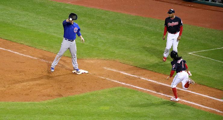 Michael Martinez made the final out of the 2016 World Series. (via Arturo Pardavila III)