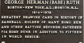 Hall of Fame Plaques Reflect the Style at the Time